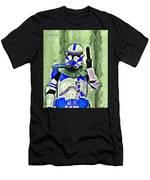 Blue Commander Stormtrooper At Work - Pa Men's T-Shirt (Athletic Fit)