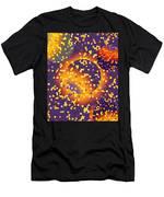 Blue Galaxy Men's T-Shirt (Athletic Fit)