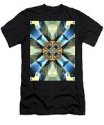 Blue, Green And Gold Abstract Men's T-Shirt (Athletic Fit)
