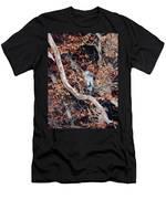 Blue Heron In Tree Men's T-Shirt (Athletic Fit)