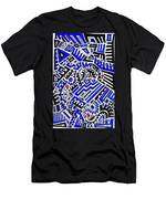 Blue Maze Men's T-Shirt (Athletic Fit)