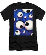 Blue Monster Eyes Men's T-Shirt (Athletic Fit)