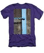 Blue On White Men's T-Shirt (Athletic Fit)