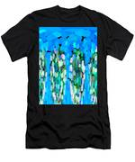Blue Waterfalls And Teardrops Men's T-Shirt (Athletic Fit)