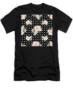 Blush Pink Floral Rose Cluster W Dot Bedding Home Decor Art Men's T-Shirt (Athletic Fit)