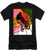 Bmx In Lines And Circles Men's T-Shirt (Athletic Fit)