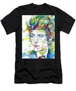 Bob Dylan - Watercolor Portrait.19 Men's T-Shirt (Athletic Fit)