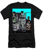 Boozy Line Up With Aqua  Men's T-Shirt (Athletic Fit)