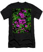 Bougainvillea Floral Print Men's T-Shirt (Athletic Fit)