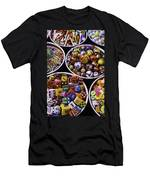 Bowls Full Of Marbles And Dice Men's T-Shirt (Athletic Fit)