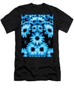 Bright Blue Daisies Men's T-Shirt (Athletic Fit)