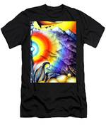 Bright Rainbow And Mountains. Cyborg's Land Men's T-Shirt (Athletic Fit)