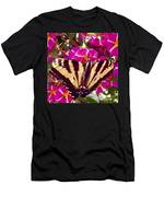 Swallowtail Butterfly Pink Men's T-Shirt (Athletic Fit)