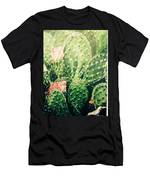 Cactus In Blossom  Men's T-Shirt (Athletic Fit)