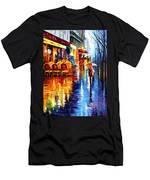 Cafe In Paris Men's T-Shirt (Athletic Fit)