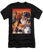 Cats And Dogs  Men's T-Shirt (Athletic Fit)