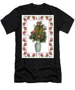 Celadon Vase With Goldenrod Men's T-Shirt (Athletic Fit)