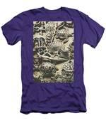 Charming Seashore Symbols Men's T-Shirt (Athletic Fit)