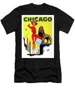 Chicago, Lion, Shopping Woman Men's T-Shirt (Athletic Fit)