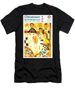 Chinatown By Underground - Leicester Square - London Underground - Retro Travel Poster Men's T-Shirt (Athletic Fit)