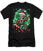 Christmas Elf Men's T-Shirt (Athletic Fit)