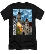 Coburg Germany Castle Painting Art Print Men's T-Shirt (Athletic Fit)