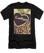 Coffee Heart Men's T-Shirt (Athletic Fit)