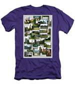 Collage Cornell University Ithaca New York Vertical 02 Men's T-Shirt (Athletic Fit)