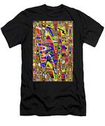 Color Mix Fun Abstract Men's T-Shirt (Athletic Fit)