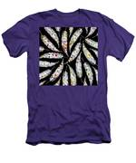 Colorful Black And White Leaves Men's T-Shirt (Athletic Fit)