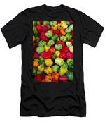 Colorful Chili Pepper Men's T-Shirt (Athletic Fit)