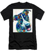 Colorful Dog Art - Happy Go Lucky - By Sharon Cummings Men's T-Shirt (Athletic Fit)