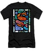 Colorful Fish Men's T-Shirt (Athletic Fit)