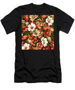 Colorful Floral Design Men's T-Shirt (Athletic Fit)