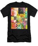 Colorful Geometric Men's T-Shirt (Athletic Fit)