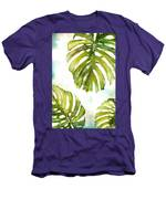 Colorful Palm Men's T-Shirt (Athletic Fit)