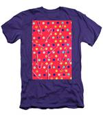 Colorful Pepermint Candy Canes Men's T-Shirt (Athletic Fit)