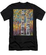 Colourful Autumn Aspen Trees By Lena Owens @olena Art Men's T-Shirt (Athletic Fit)