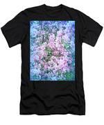 Cool Blue Apple Blossoms Men's T-Shirt (Athletic Fit)