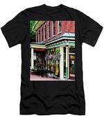 Corner Restaurant With Hanging Plants Men's T-Shirt (Athletic Fit)