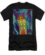 Crooked Yellow Brick House Men's T-Shirt (Athletic Fit)