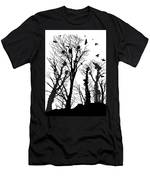 Crows Roost 1 - Black And White Men's T-Shirt (Athletic Fit)