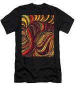 Curved Lines 3 Men's T-Shirt (Athletic Fit)