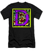 D In Purple Men's T-Shirt (Athletic Fit)