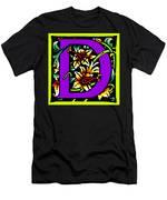 D In Purple Men's T-Shirt (Athletic Fit)