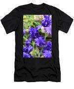 Dancing Blue Irises Men's T-Shirt (Athletic Fit)