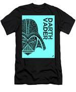 Darth Vader - Star Wars Art - Blue Men's T-Shirt (Athletic Fit)