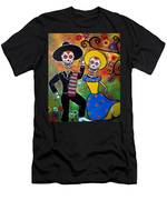Day Of The Dead Bailar Men's T-Shirt (Athletic Fit)