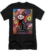 Day Of The Dead Cat El Gato Men's T-Shirt (Athletic Fit)