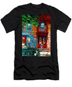 Debullion Street Neighbors Men's T-Shirt (Athletic Fit)